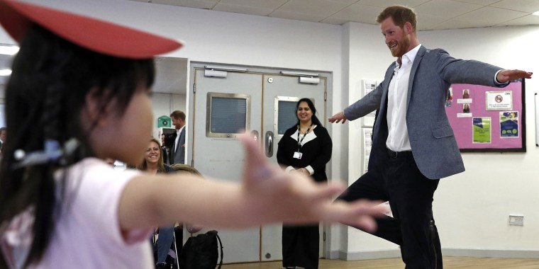 Prince Harry at ballet class