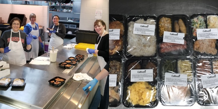 Indiana school cafeteria workers are making meal kits for students in need