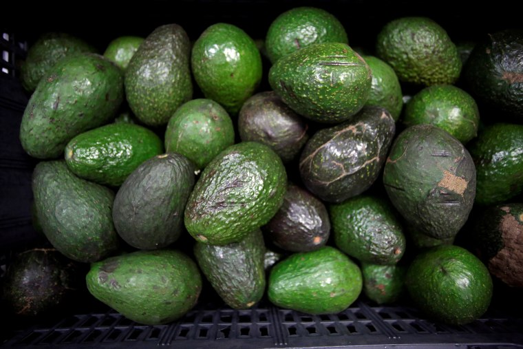 "Image: Avocados are on display for sale at the wholesale market ""Central de Abastos"" in Mexico City"