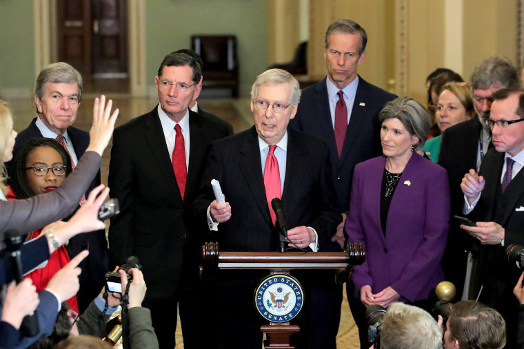Image: U.S. Senate Majority Leader Mitch McConnell speaks at the U.S. Capitol in Washington