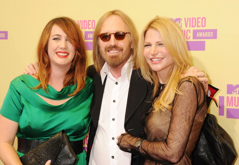 Image: Adria Petty, Tom Petty, Dana York Petty, 2012 MTV Video Music Awards - Arrivals