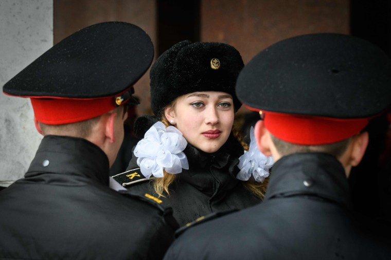 Image: TOPSHOT-RUSSIA-MILITARY-EDUCATION-CADETS