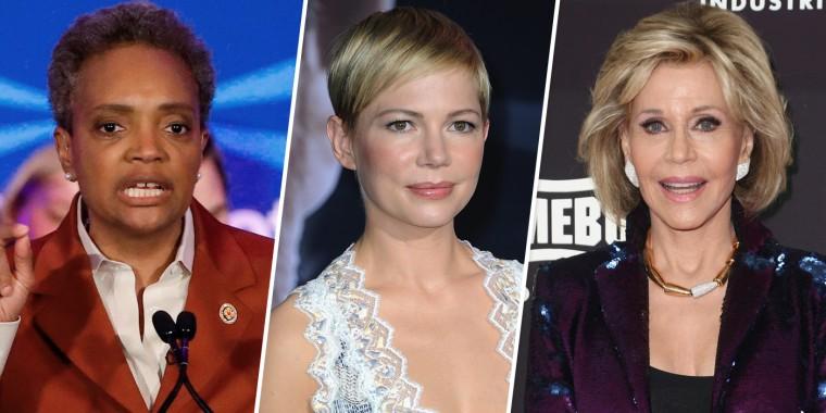Image: Lori Lightfoot, Michelle Williams and Jane Fonda