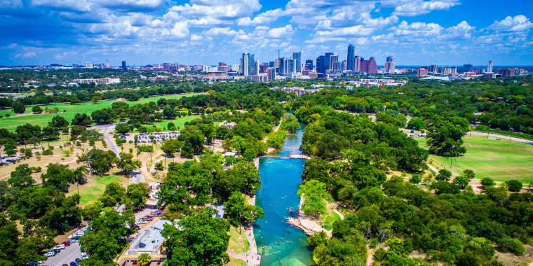 Image: Barton Springs Paradise in the Capital City of Austin Texas