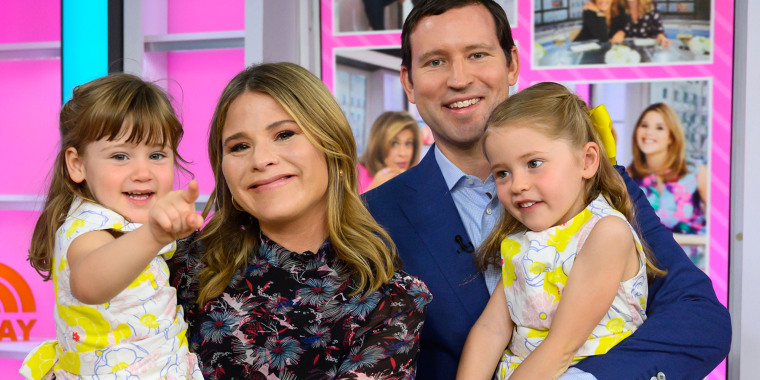 TODAY co-host Jenna Bush Hager with husband Henry Hager and their two daughters, Mila and Poppy Hager.