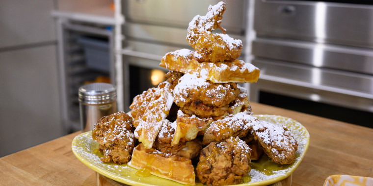 Tracy Morgan's Dessert Loaf + Peach Cobbler + Chicken and Waffles + Sweet & Spicy Slaw