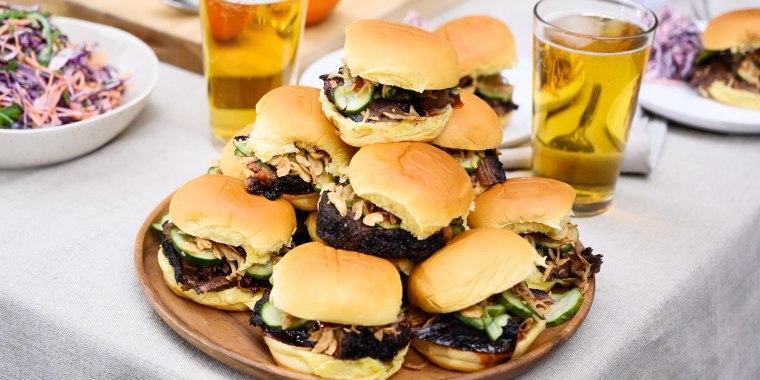 Matt Abdoo's Brisket Sandwich + Red Table Barbecue Sauce + Purple Coleslaw