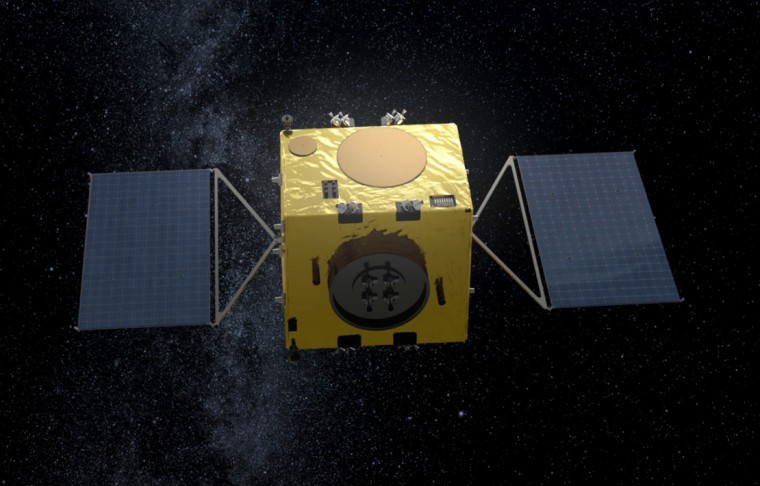 Image: An artist's impression of the European Space Agency's Hera spacecraft.