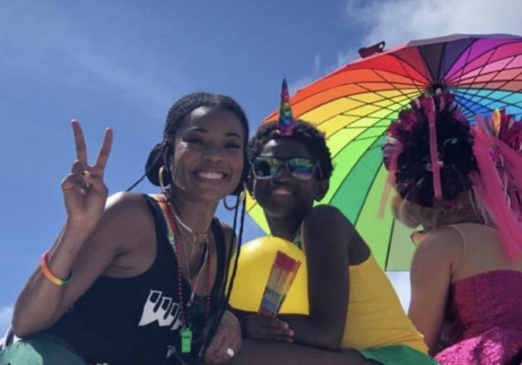Gabrielle Union and Zion Wade at the Miami Beach Pride march