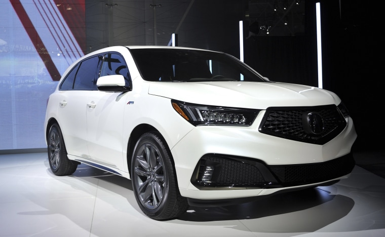 Image: 2019 Acura MDX A Spec reveal at the New York International Auto Show at the Javits Center in New York