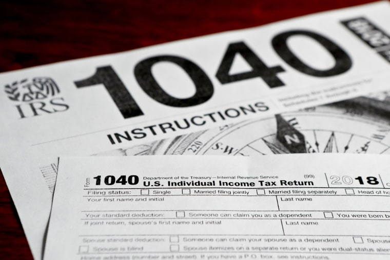 Image: 1040 tax form