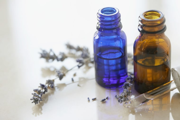 Image: Essential oils and lavender flowers