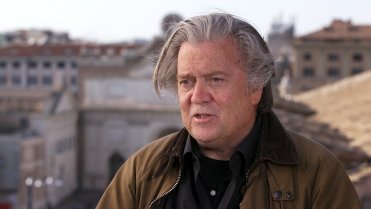 Image: Steve Bannon speaks with Richard Engel near St. Peter's Square at the Vatican.