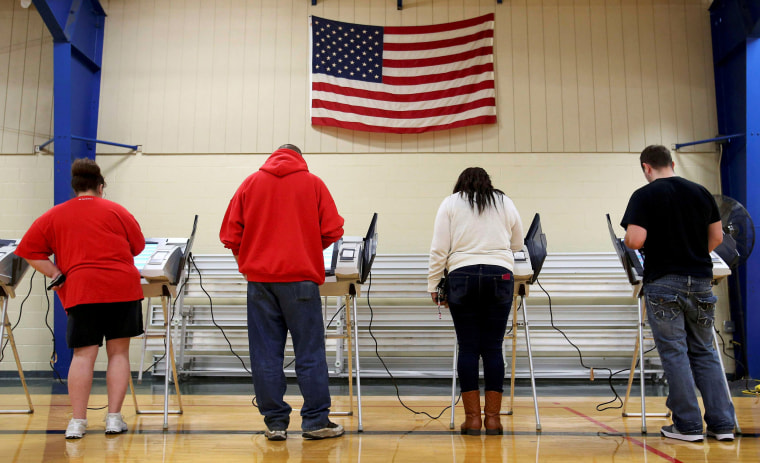 Image: Voters cast their votes during the U.S. presidential election in Ohio