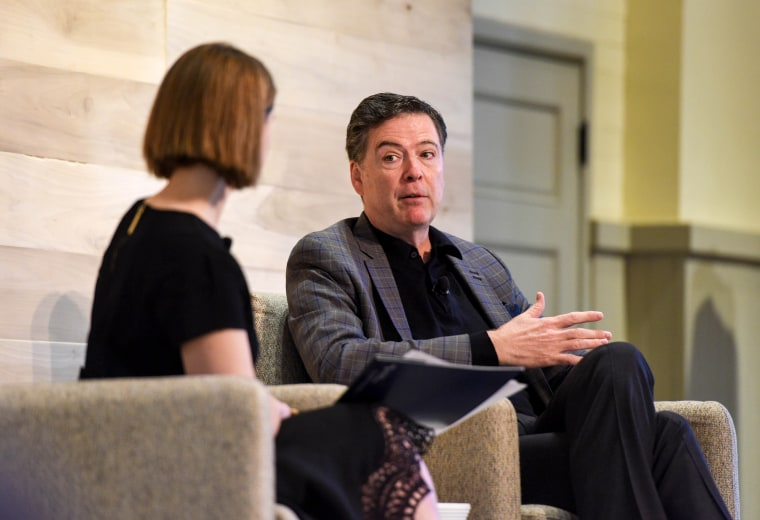 Image: James Comey attends the Hewlett Foundation's Verify Conference.