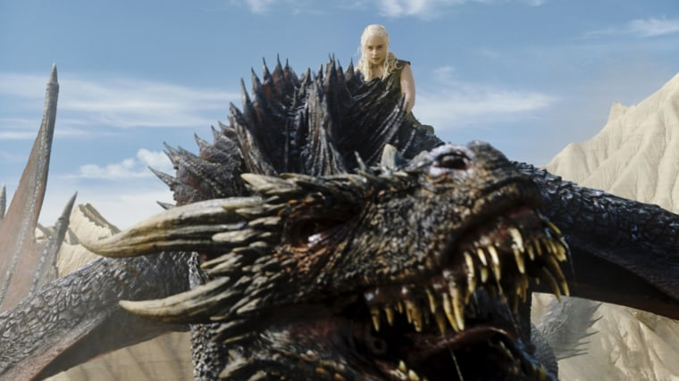 Dany and dragon in Game of Thrones