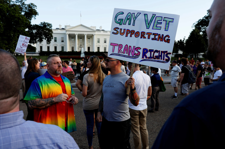 Image: Transgender military ban protest