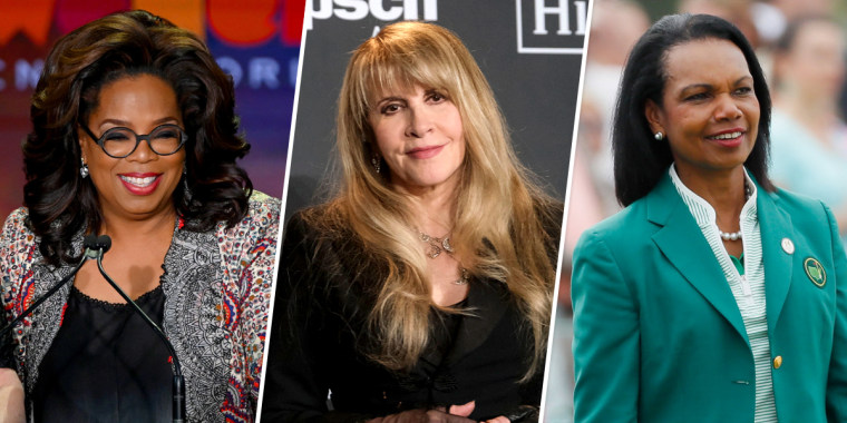 Oprah Winfrey, Stevie Nicks, and Condoleezza Rice.