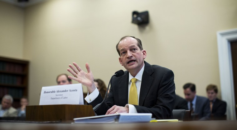 Image: Labor Secretary Alexander Acosta Appears At House Appropriations Committee Hearing On Budget