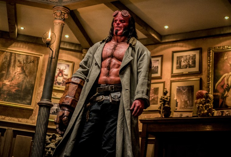 """David Harbour in a scene from \""""Hellboy\"""""""