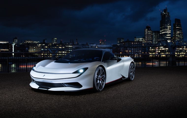The Pininfarina Battista's stunning shape houses electric drive technology that will let the supercar hit 186 mph.