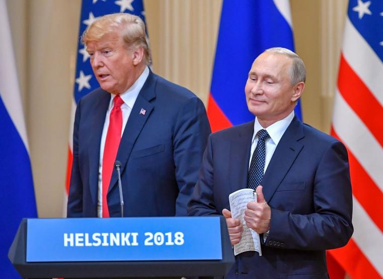 Image: President Donald Trump and Russia's President Vladimir Putin