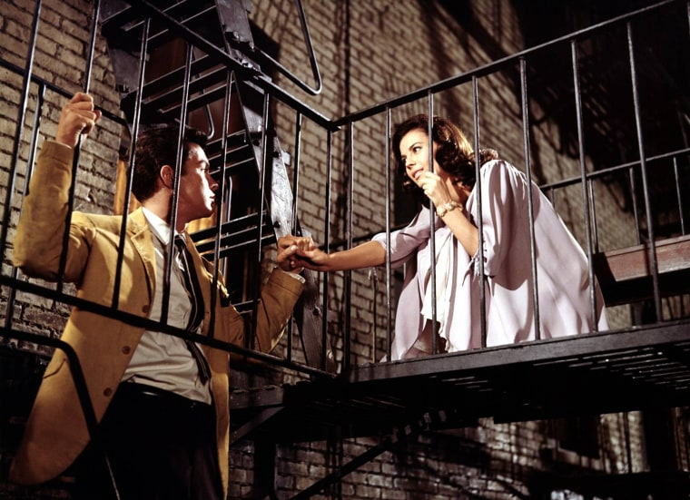"Natalie Wood and Richard Beymer in a scene from ""West Side Story."""