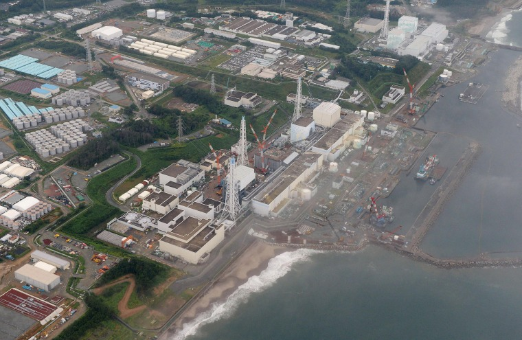 Image: The Fukushima Dai-ichi nuclear plant at Okuma in Fukushima prefecture, northern Japan