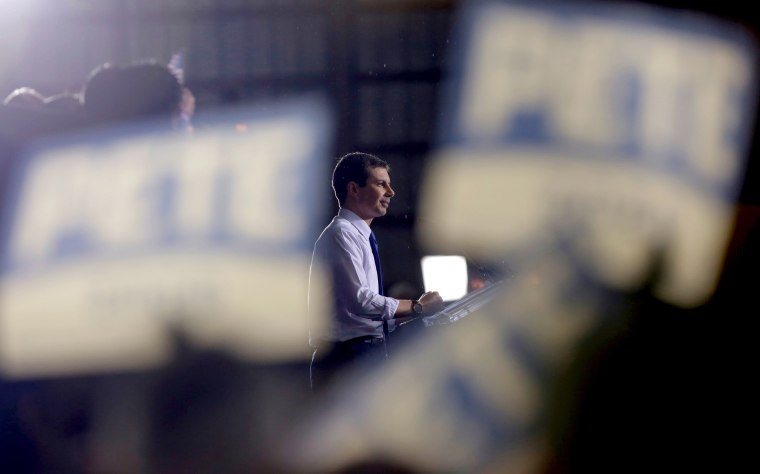 Image: South Bend Mayor Pete Buttigieg announces his candidacy for president in Indiana on April 14, 2019.