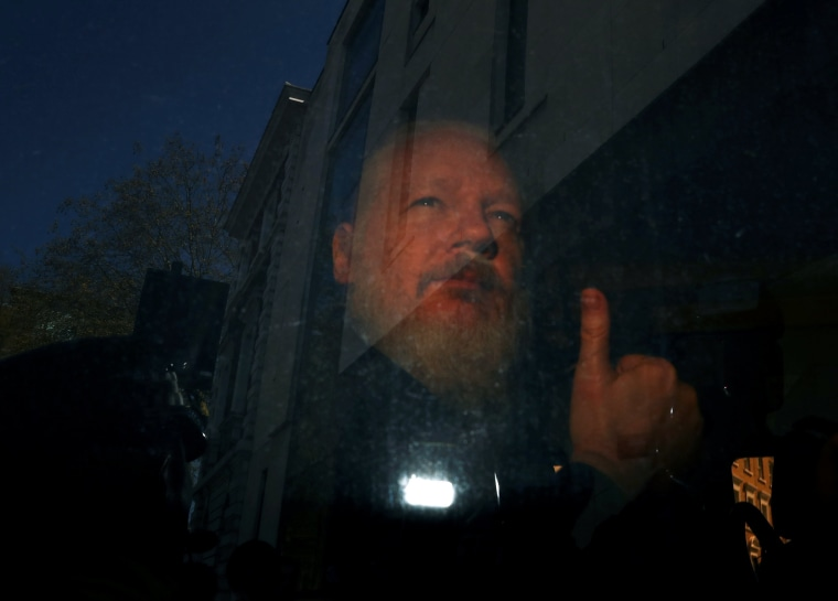 Image: WikiLeaks founder Julian Assange arrives at the Westminster Magistrates Court, after he was arrested  in London