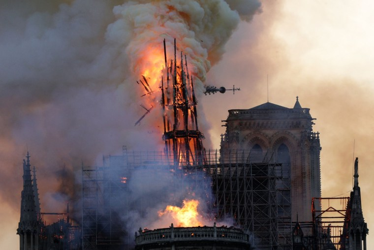 Image: FILES-FRANCE-FIRE-NOTRE DAME