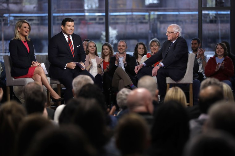 Image: Bernie Sanders, Bret Baier, Martha MacCallum