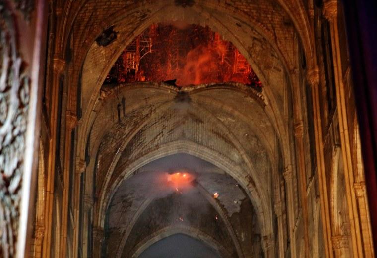 Image: TOPSHOT-FRANCE-FIRE-NOTRE-DAMES