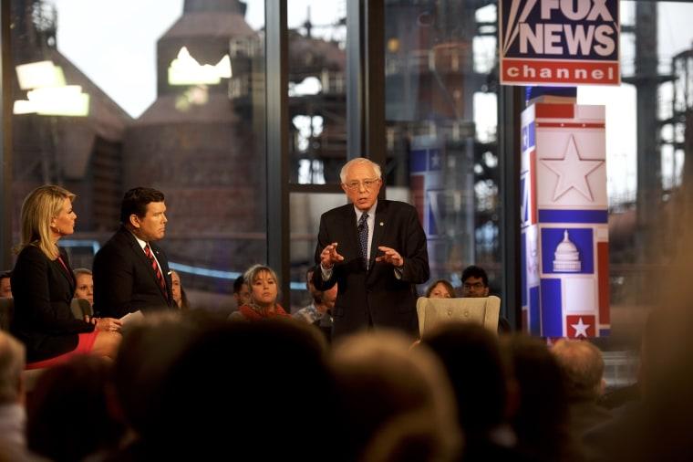 Image: Bernie Sanders FOX News Town Hall