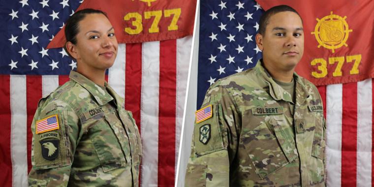 Staff Sgt. Amy Colbert, Sgt. Lance Colbert.