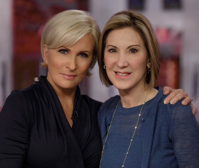 """Morning Joe"" co-host and Know Your Value founder Mika Brzezinski and former CEO of Hewlett-Packard, Carly Fiorina."