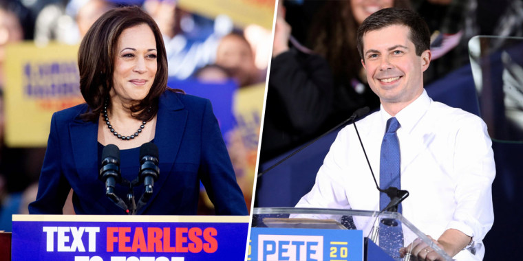 Some Democratic donors haven't yet settled on a single contender — so some are lending their support to several, including Kamala Harris and Pete Buttigieg.