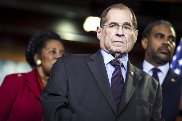 Image: House Judiciary Committee Chairman Rep. Jerry Nadler, D-NY, attends a news conference in Washington on April 9, 2019.