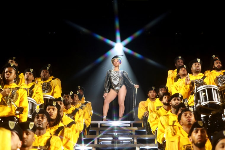 "Image: Beyonce performs at Coachella in 2018 in a still from Netflix's ""Homecoming."""