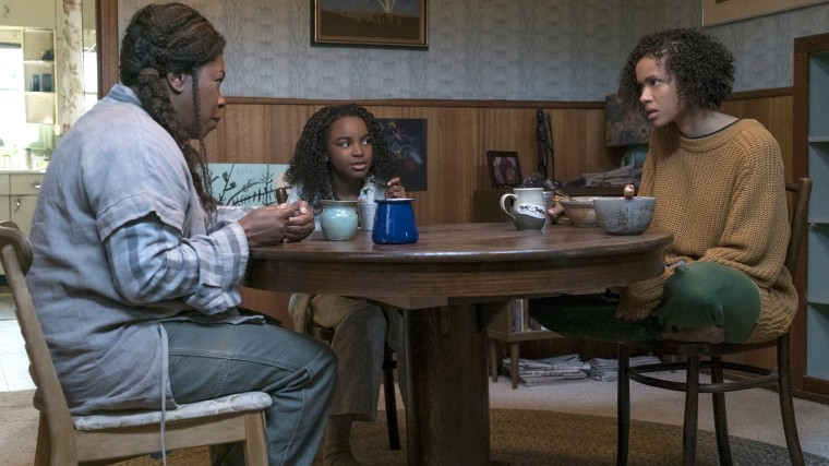 """Lorraine Toussaint as Bo, Saniyya Sidney as Lila, and Gugu Mbatha-Raw as Ruth in """"Fast Color."""""""