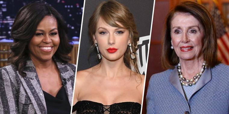 Image: Michelle Obama, Taylor Swift, Nancy Pelosi