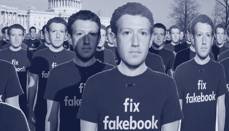 Image: FILE PHOTO: Dozens of cardboard cutouts of Facebook CEO Mark Zuckerberg are seen during an Avaaz.org protest outside the U.S. Capitol in Washington