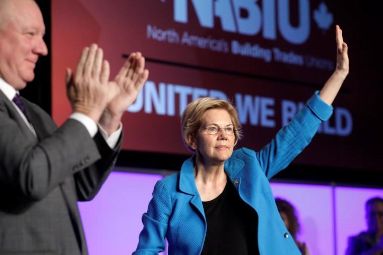 Image: Senator Elizabeth Warren speaks at NABTU legislative conference in Washington