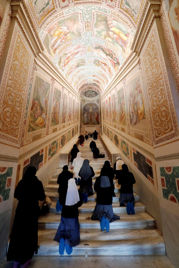 Image: Rome's Holy Stairs uncovered for first time in 300 years