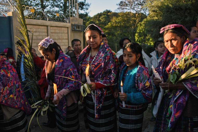 Image: GUATEMALA-RELIGION-HOLY WEEK-PALM SUNDAY