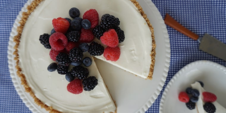 Skip the oven and enjoy this simple no-bake cheesecake.