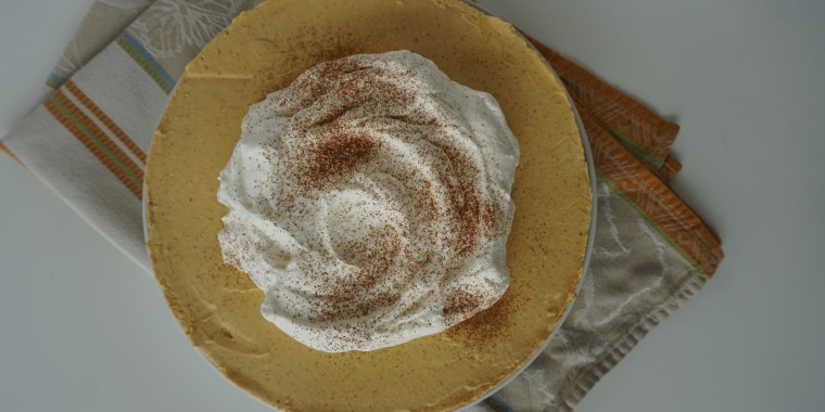 Savor fall flavor year-round with this gorgeous no-bake cheesecake.