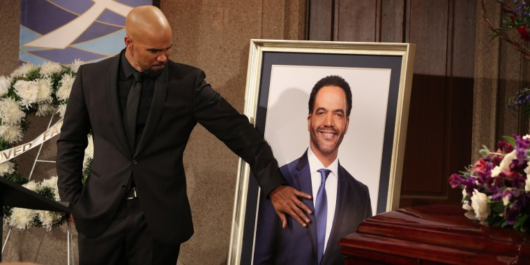 Malcolm Winters (Shemar Moore) returns home to attend Neil Winters' funeral.  THE YOUNG AND THE RESTLESS, scheduled to air on the CBS Television Network. Photo: Michael Yarish/CBS ???(C)2019 CBS Broadcasting, Inc. All Rights Reserved