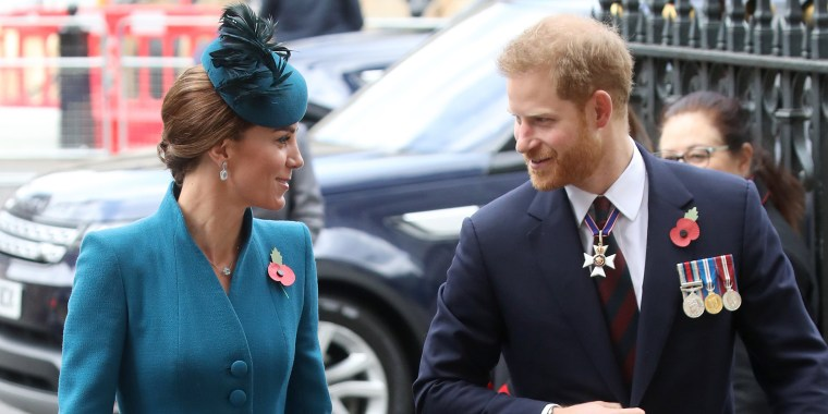 Prince Harry makes surprise appearance with Kate Middleton at Westminster Abbey service