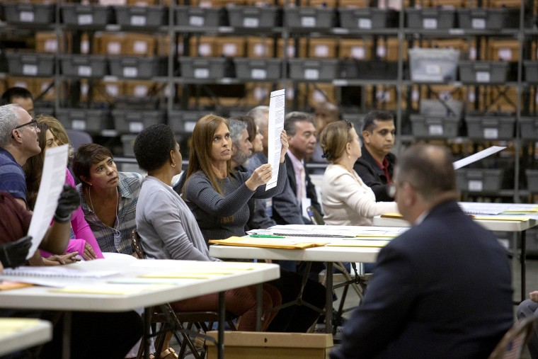 Image: Legally-Mandated Manual Re-Count Begins In Hotly Contested Florida Senate Race